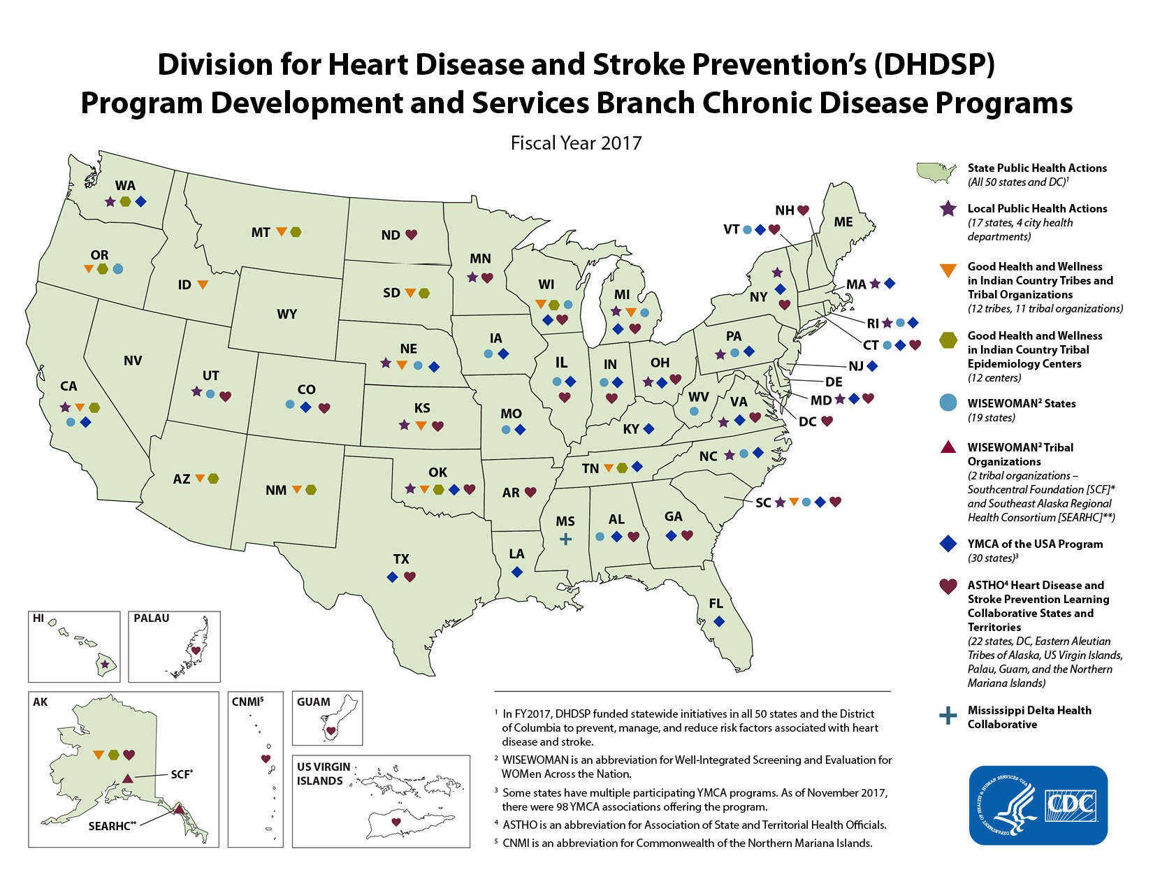 CDC State, Local, and Tribal Grantees Map|DHDSP|CDC