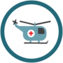 Air medical icon.