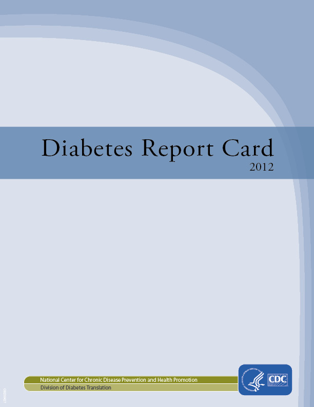Image of the cover of the Diabetes Report Card 2012