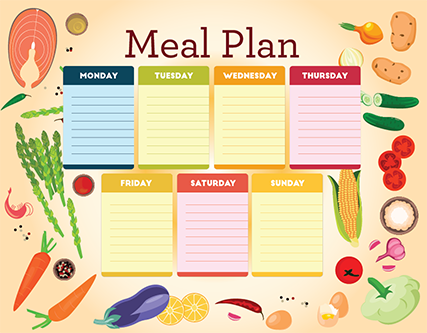 printable heart healthy diet menus