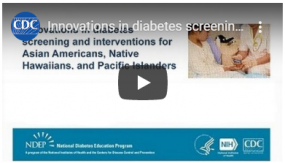video thumbnail for innovations in screening diabetes