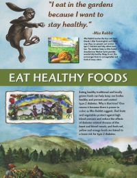 Image of eat healthy foods backdrop panel