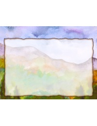 image of landscape watercolor stationery