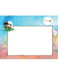 image of sky watercolor stationery