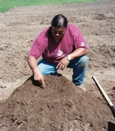 Traditional gardening at Standing Rock Sioux Tribe