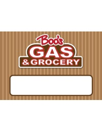 Eagle Books Boo's Gas & Grocery Name Badges