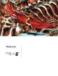 Eagle Books Coyote Thank You Postcard