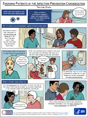 Engaging Patients in the Infection Prevention Conversation Comic