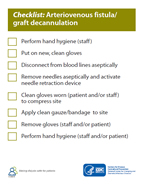 Arteriovenous Fistula & Graft Cannulation Checklist