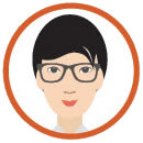woman with glasses clipart