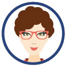 smiling woman with glasses clipart