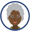 grayhair woman clipart