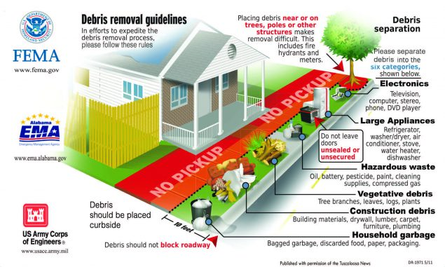 PDF cover graphic for Debris removal guidelines