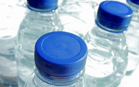 a picture of bottled water