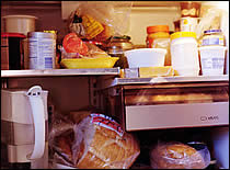 Food Items in a Refrigerator