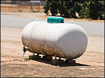 Large Stationary Liquid Propane Storage Tank