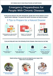 Cover of CDC infographic on Emergency Preparedness for People With Chronic Diseases