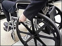 Photo of wheel chair user.