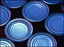 Photo of cans of food.