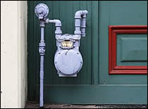 Photo of gas meter.