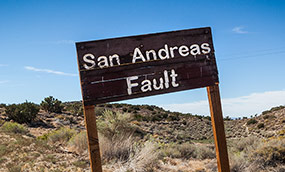 Sign of the San Andreas Fault in the desert