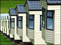 Photo of mobile homes.