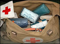 Photo of first aid kit.