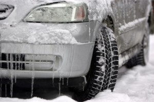 Automobile in Icy and Snowy Conditions