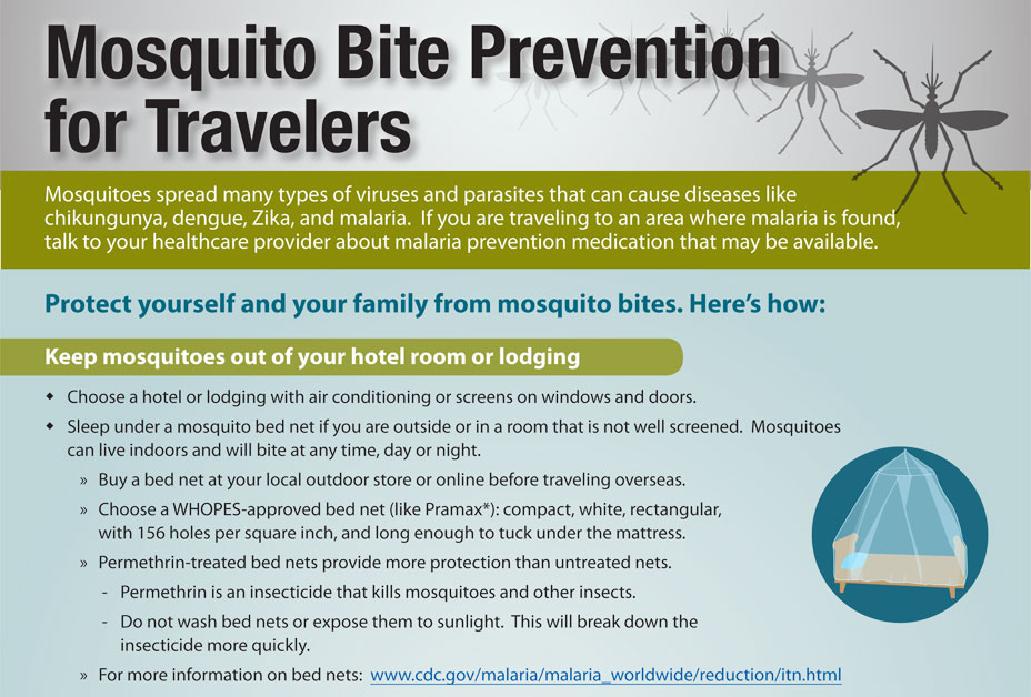 Infographic of ways to avoid mosquito bites