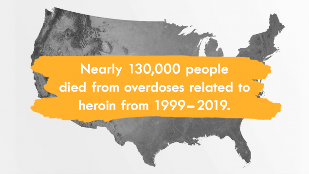 Nearly 130,000 people died from overdoses related to heroin from 1999-2019