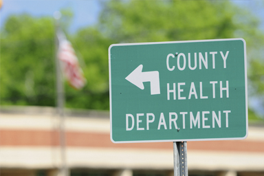 photo of a County Health Department sign
