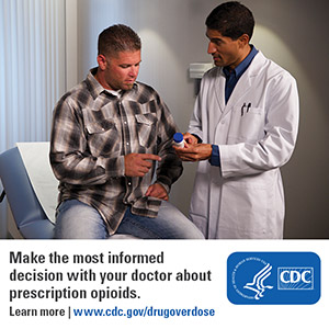 Make the most informed decision with your doctor about presription opioids. Learn more: www.cdc.gov/drugoverdose