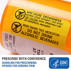Prescribe with confidence. Guideline for Prescribing Opioids for Chronic Pain. Learn more: www.cdc.gov/drugoverdose