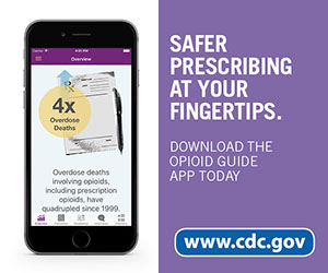 Safer prescribing at your fingertips. Download the Opioid Guide App today. www.cdc.gov