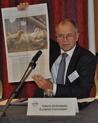 EU Commissioner for Health and Food Safety, Vytenis Andriukaitis, during the TATFAR meeting opening session.