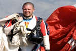 Josh in skydiving gear - Get Smart About Antibiotics: For Patients and Parents