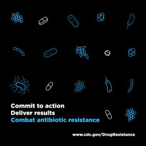 Commit to action, deliver results, combat antibiotic resistance.