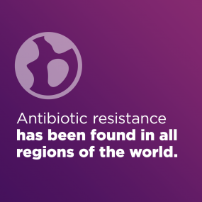 Antibiotic resistance has been found in all regions of the world.
