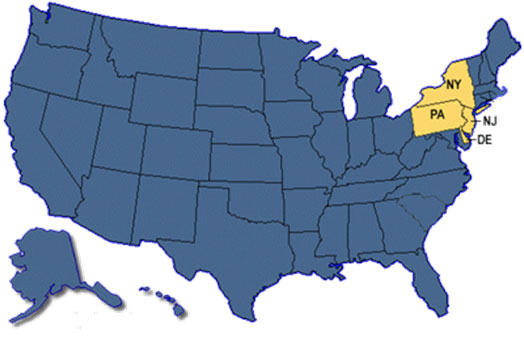 Map of States with Taco Bell Restaurants Where Persons with Confirmed Cases Ate.