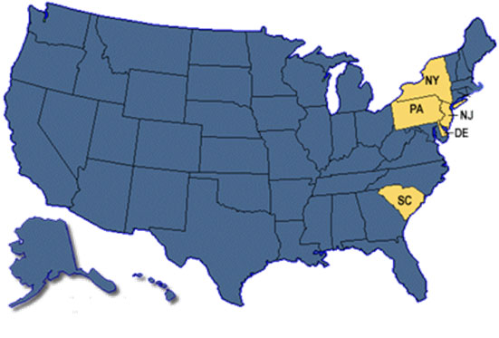 Map: Persons infected with the outbreak strain of <em>E. coli</em> O157:H7, by state of residence, as of December 14, 2006 (n=71)