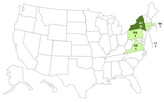 Final Case Count Map: Persons infected with the outbreak strain of E. coli O157:H7, by state