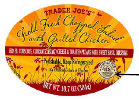 trader joe's product label