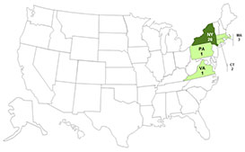 Persons infected with the outbreak strain of E. coli O157:H7, by state