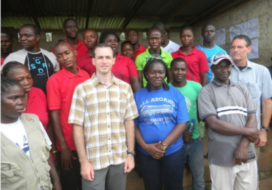 Dr. Benowitz in Liberia as part of CDC's Ebola response team.
