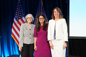 (L-R) CDC Principal Deputy Director Dr. Anne Schuchat with Drs. Mona Hanna-Attisha and CDC /DSEPD Director Pattie Simone