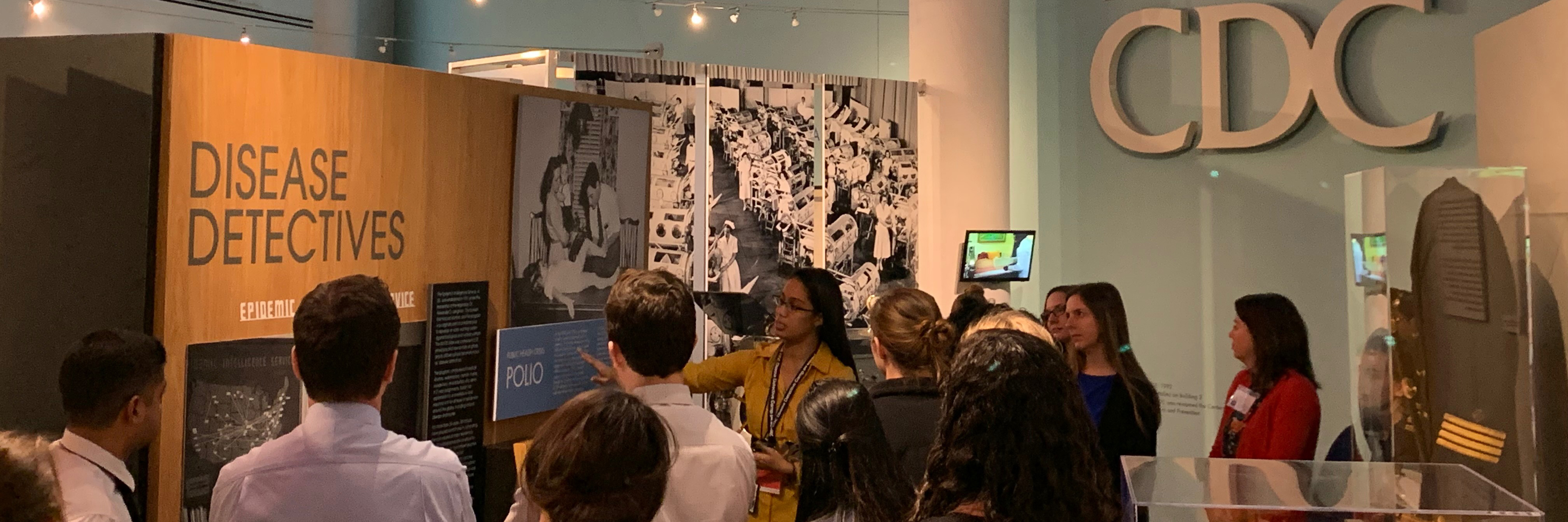 EEP students learn about the history of CDC during a visit to the Edward J. Sencer CDC Museum