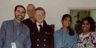 Photo of the Epi Info™ 2000 Development Team. Tom Arner, Karl Brendel, Andy Dean, Sireesha Sangam, and Godha Sunki.