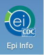 Screen shot demonstrating Epi Info Mobile application icon on mobile device.