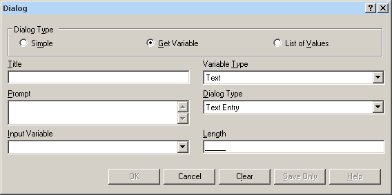 Dialog command Get-Variable dialog