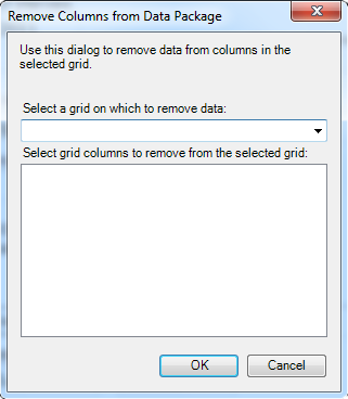 Remove columns from data package
